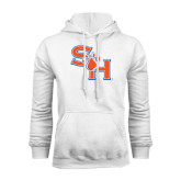 White Fleece Hood-SH Paw Official Logo
