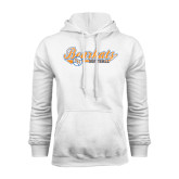 White Fleece Hood-Softball Lady Design