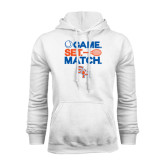 White Fleece Hood-Tennis Game Set Match
