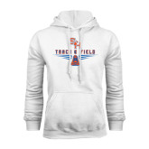White Fleece Hood-Track and Field Design