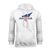 White Fleece Hood-Track and Field Side Design