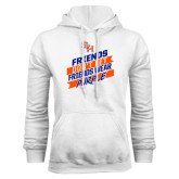 White Fleece Hood-Friends Dont Let Friends Wear Purple