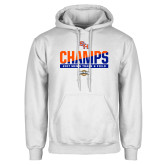 White Fleece Hoodie-2017 Southland Conference Mens Track and Field