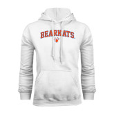 White Fleece Hood-Arched Bearkats w/Paw