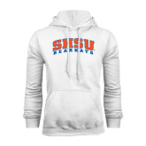 White Fleece Hood-Arched SHSU Bearkats