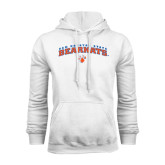 White Fleece Hood-Arched Sam Houston State Bearkats w/Paw