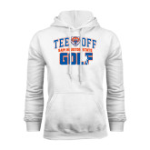White Fleece Hood-Golf Tee Off