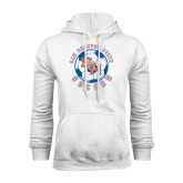 White Fleece Hood-Soccer Circle
