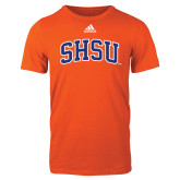 Adidas Orange Logo T Shirt-Arched SHSU
