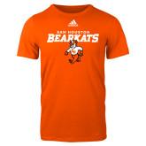 Adidas Orange Logo T Shirt-Sam Houston Primary Mascot Lock Up