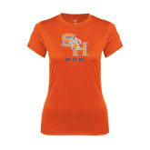 Ladies Syntrel Performance Orange Tee-Mom