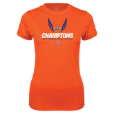 Ladies Syntrel Performance Orange Tee-Southland Conference Indoor Track and Field Champions