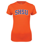 Ladies Syntrel Performance Orange Tee-Arched SHSU