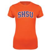 Ladies Syntrel Performance Orange Tee-Arched SHSU