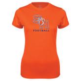Ladies Syntrel Performance Orange Tee-Football