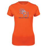 Ladies Syntrel Performance Orange Tee-Volleyball