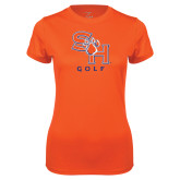 Ladies Syntrel Performance Orange Tee-Golf