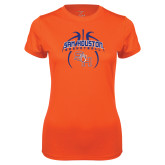 Ladies Syntrel Performance Orange Tee-Basketball in Ball
