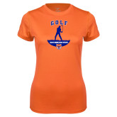Ladies Syntrel Performance Orange Tee-Golf Stacked