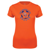 Ladies Syntrel Performance Orange Tee-Soccer Circle
