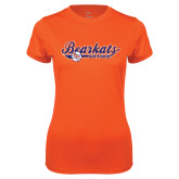 Ladies Syntrel Performance Orange Tee-Softball Lady Design