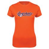 Ladies Syntrel Performance Orange Tee-Softball Lady Design
