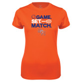 Ladies Syntrel Performance Orange Tee-Tennis Game Set Match