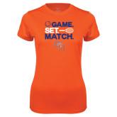 Ladies Syntrel Performance Orange Tee-Tennis Game Set Match