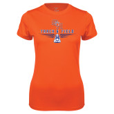 Ladies Syntrel Performance Orange Tee-Track and Field Design