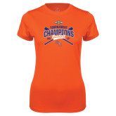 Ladies Syntrel Performance Orange Tee-2017 Southland Conference Baseball Champions