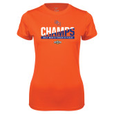 Ladies Syntrel Performance Orange Tee-2017 Southland Conference Mens Track and Field