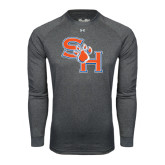 Under Armour Carbon Heather Long Sleeve Tech Tee-SH Paw Official Logo