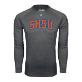 Under Armour Carbon Heather Long Sleeve Tech Tee-Arched SHSU