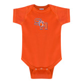 Orange Infant Onesie-SH Paw Official Logo
