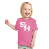 Toddler Fuchsia T Shirt-SH Paw Official Logo