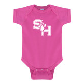 Fuchsia Infant Onesie-SH Paw Official Logo