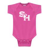 Fuchsia Infant Onesie-SH Paw Official Logo