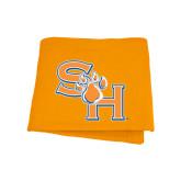 Orange Sweatshirt Blanket-SH Paw Official Logo