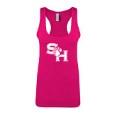 Next Level Ladies Raspberry Ideal Racerback Tank-SH Paw Official Logo