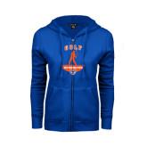 ENZA Ladies Royal Fleece Full Zip Hoodie-Golf Stacked