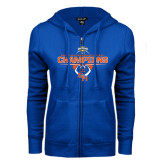 ENZA Ladies Royal Fleece Full Zip Hoodie-2016 Southland Conference Football Champions