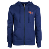 ENZA Ladies Royal Fleece Full Zip Hoodie-SH Paw Official Logo