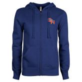 ENZA Ladies Royal Fleece Full Zip Hoodie-SH Paw Official Logo