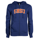 ENZA Ladies Royal Fleece Full Zip Hoodie-Arched SHSU