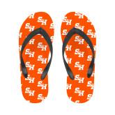 Ladies Full Color Flip Flops-Primary Athletics Mark