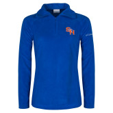 Columbia Ladies Half Zip Royal Fleece Jacket-SH Paw Official Logo