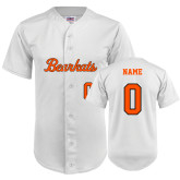 Replica White Adult Baseball Jersey-SH Paw Official Logo
