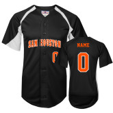Replica Black Adult Baseball Jersey-SH Paw Official Logo