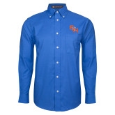 Mens Royal Oxford Long Sleeve Shirt-SH Paw Official Logo