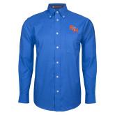 Mens Royal Oxford Long Sleeve Shirt-SH Paw Official Logo